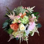 pinky peachy bridal bouquet