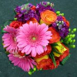 bright gerbera daisy bridal bouquet