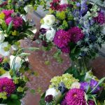 spring purple and pink bouquets