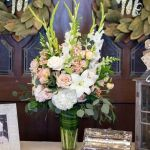 Gorgeous Guest Book Arrangement   photo by Brett Heidebrecht Photography