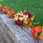 fall bridal and bridesmaids bouquets