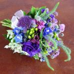 purple and blue anthropologie style bridesmaid bouquet