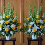 yellow and white endpieces