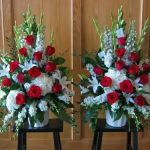 red and white endpieces