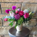 Feminine shades in the Pink Splatter Vase