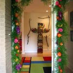 bright entryway garland