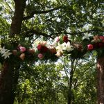 Skelly Lodge arbor decor