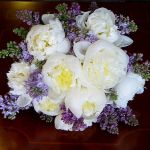 peony and lilac bridal bouquet