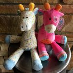 Add on a plush Mary Meyer giraffe! Jasmine and Stretch can't wait to meet their new family.  $23.95 each