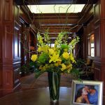 yellow entryway vase