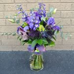 purple textures bridal bouquet