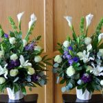 White and purple endpieces