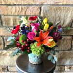 Bright Aloha Pot Bouquet