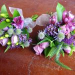 purple anthropologie style corsages