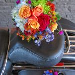 bright mix bridal bouquet and boutonniere