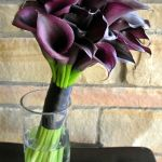 purple mini calla lily bridal bouquet
